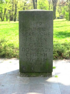 Monument in Topčider
