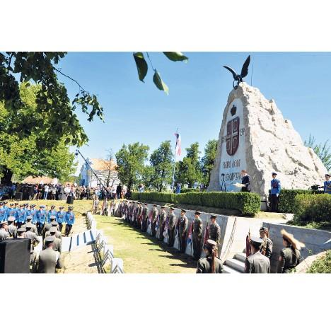 Спомен комплекс у Текеришу посвећен Церској бици (Фото Тањуг)