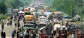Избегличка колона ка Србији 5 августа 1995